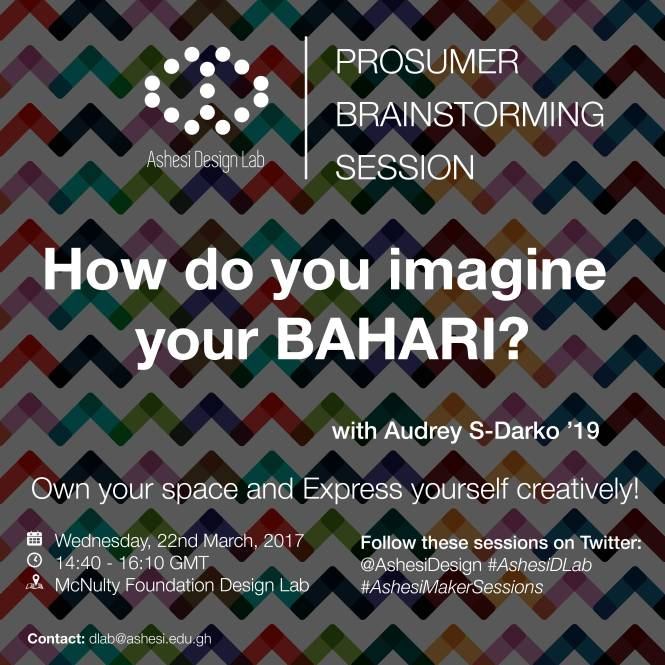 Ashesi DLab Maker Skills Sessions -BAHARI-01